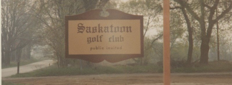 Grand Rapids Saskatoon Golf Club 1964 sign